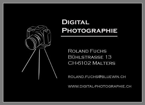 Visitenkarte Digital Photographie